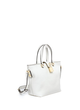 Front View - Click To Enlarge - Dolce & Gabbana - 'Rosaria' mini grainy leather zip tote