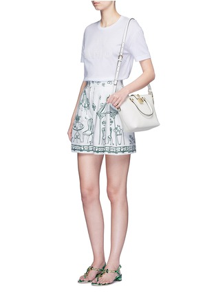Figure View - Click To Enlarge - Dolce & Gabbana - 'Rosaria' mini grainy leather zip tote
