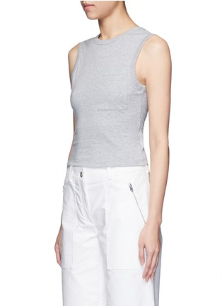 Front View - Click To Enlarge - ALEXANDERWANG.T - Open twist back tank top
