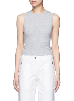 Main View - Click To Enlarge - ALEXANDERWANG.T - Open twist back tank top