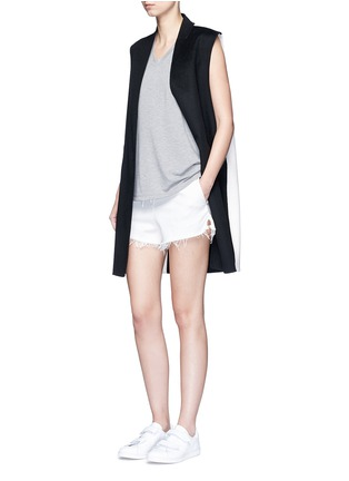 Figure View - Click To Enlarge - ALEXANDERWANG.T - Enzyme wash French terry racerback tank top
