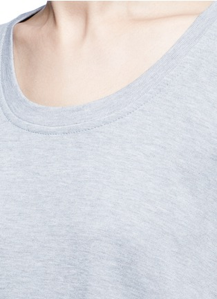 Detail View - Click To Enlarge - T By Alexander Wang - Enzyme wash circular dip hem sweatshirt