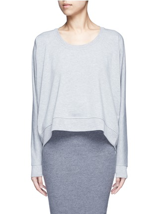 Main View - Click To Enlarge - T By Alexander Wang - Enzyme wash circular dip hem sweatshirt