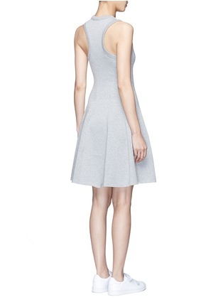 Back View - Click To Enlarge - T By Alexander Wang - Double knit jersey flare tank dress