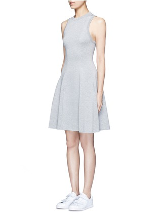 Front View - Click To Enlarge - T By Alexander Wang - Double knit jersey flare tank dress