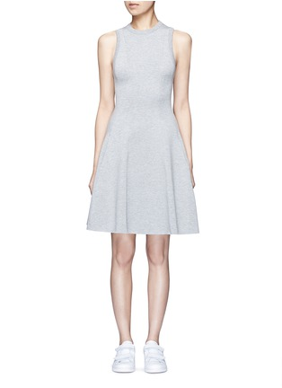 Main View - Click To Enlarge - T By Alexander Wang - Double knit jersey flare tank dress