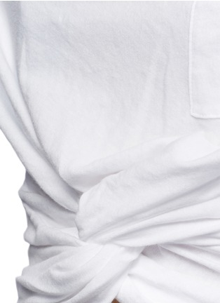 Detail View - Click To Enlarge - T By Alexander Wang - Twist front cropped T-shirt