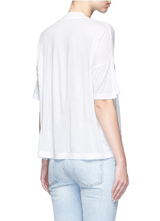 Back View - Click To Enlarge - T By Alexander Wang - Dropped shoulder jersey T-shirt