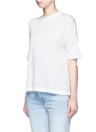Front View - Click To Enlarge - T By Alexander Wang - Dropped shoulder jersey T-shirt