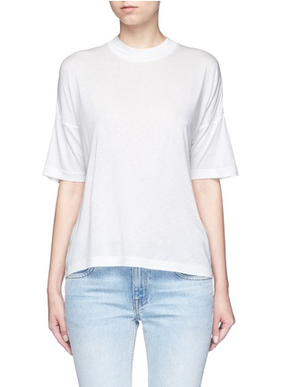 Main View - Click To Enlarge - T By Alexander Wang - Dropped shoulder jersey T-shirt