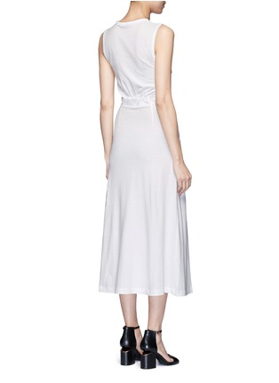 Back View - Click To Enlarge - T By Alexander Wang - Twist cutout front midi tank dress