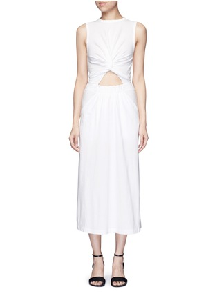 Main View - Click To Enlarge - T By Alexander Wang - Twist cutout front midi tank dress