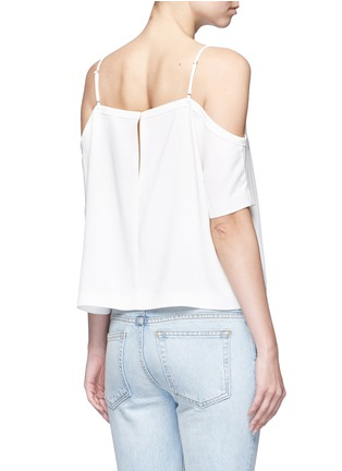 Back View - Click To Enlarge - T By Alexander Wang - Chest pocket crepe off-shoulder top