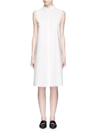 Main View - Click To Enlarge - T By Alexander Wang - Trapeze back poplin shirt dress