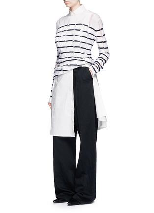 Figure View - Click To Enlarge - T By Alexander Wang - Trapeze back poplin shirt dress