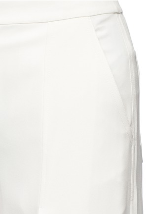 Detail View - Click To Enlarge - T By Alexander Wang - Pleat front crepe culottes