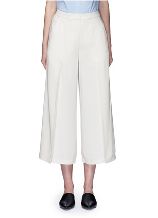 Main View - Click To Enlarge - T By Alexander Wang - Pleat front crepe culottes