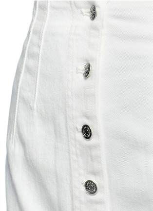 Detail View - Click To Enlarge - ALEXANDERWANG.T - Cotton twill button jean skirt