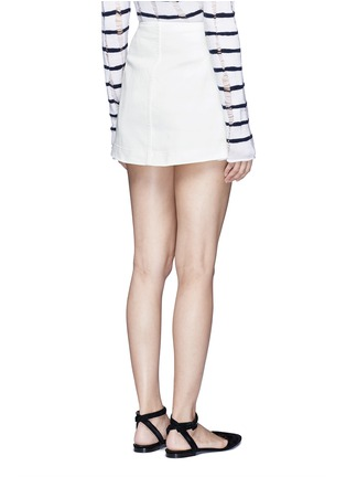 Back View - Click To Enlarge - ALEXANDERWANG.T - Cotton twill button jean skirt