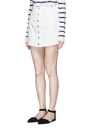 Front View - Click To Enlarge - ALEXANDERWANG.T - Cotton twill button jean skirt