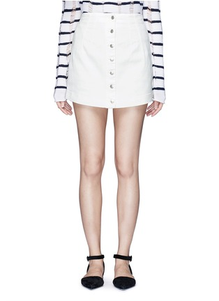 Main View - Click To Enlarge - ALEXANDERWANG.T - Cotton twill button jean skirt