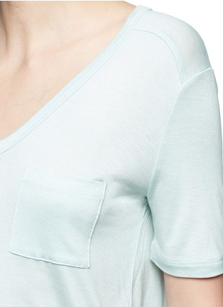 Detail View - Click To Enlarge - T By Alexander Wang - Pocket rayon jersey T-shirt