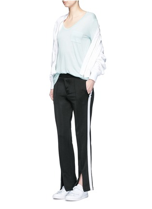 Figure View - Click To Enlarge - T By Alexander Wang - Pocket rayon jersey T-shirt