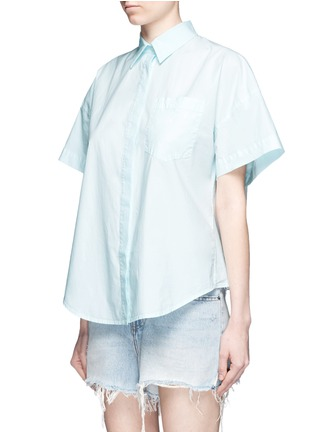 Front View - Click To Enlarge - T By Alexander Wang - Trapeze back poplin shirt