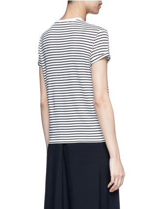 Back View - Click To Enlarge - alexanderwang.t - Stripe superfine cotton T-shirt