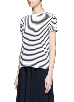 Front View - Click To Enlarge - alexanderwang.t - Stripe superfine cotton T-shirt