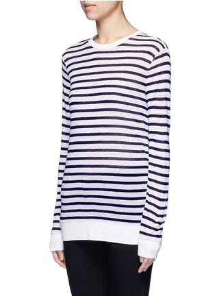 Front View - Click To Enlarge - T By Alexander Wang - Stripe slub jersey T-shirt