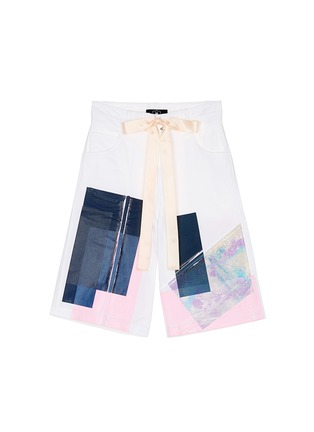 Main View - Click To Enlarge - NICOPANDA - Paint patchwork deconstructed shorts