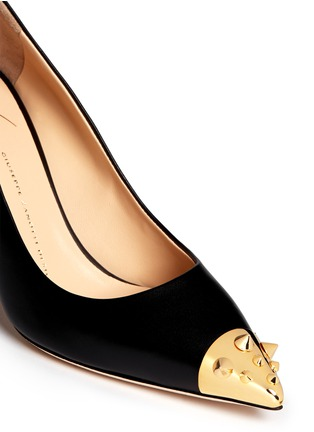 Detail View - Click To Enlarge - Giuseppe Zanotti Design - 'Yvette' stud toe cap leather pumps