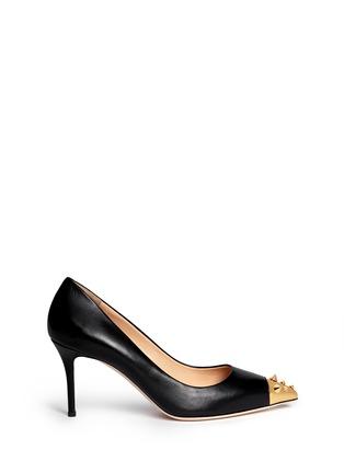 Main View - Click To Enlarge - Giuseppe Zanotti Design - 'Yvette' stud toe cap leather pumps