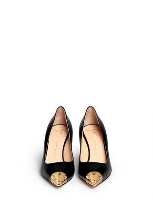 Figure View - Click To Enlarge - Giuseppe Zanotti Design - 'Yvette' stud toe cap leather pumps