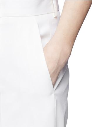 Detail View - Click To Enlarge - Victoria Beckham - Virgin wool barathea pants