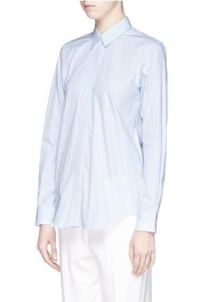Front View - Click To Enlarge - Victoria Beckham - Stripe open back cotton shirt