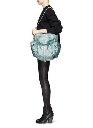 Detail View - Click To Enlarge - ALEXANDERWANG - Marti three-way metallic leather backpack