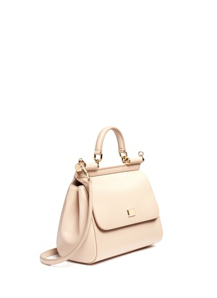 Front View - Click To Enlarge - Dolce & Gabbana - 'Miss Sicily' medium leather satchel