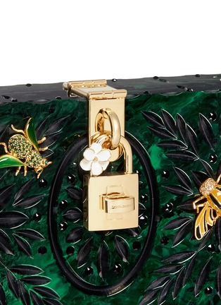 Detail View - Click To Enlarge - Dolce & Gabbana - 'Dolce Box' jewel embellished Plexiglas clutch