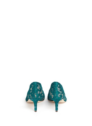 Back View - Click To Enlarge - Dolce & Gabbana - 'Bellucci' jewel brooch Taormina lace pumps