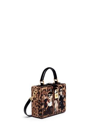 Figure View - Click To Enlarge - Dolce & Gabbana - 'Dolce Box' DG Family appliqué leopard print leather bag