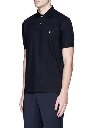 Front View - Click To Enlarge - Paul Smith - Ghost embroidery cotton polo shirt