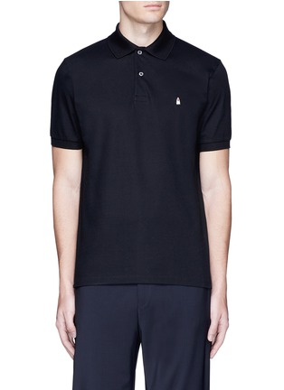 Main View - Click To Enlarge - Paul Smith - Ghost embroidery cotton polo shirt