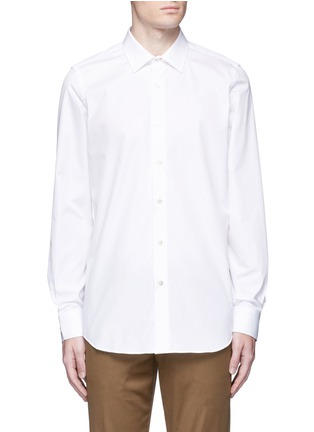 Main View - Click To Enlarge - Paul Smith - 'Soho' contrast cuff lining shirt