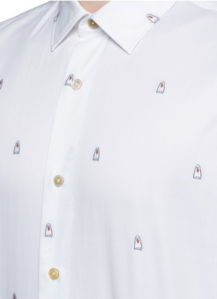 Detail View - Click To Enlarge - Paul Smith - Ghost jacquard cotton shirt