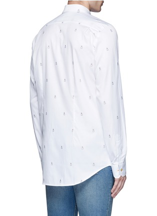 Back View - Click To Enlarge - Paul Smith - Ghost jacquard cotton shirt