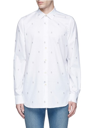 Main View - Click To Enlarge - Paul Smith - Ghost jacquard cotton shirt