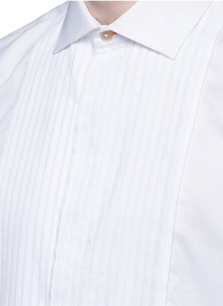 Detail View - Click To Enlarge - Paul Smith - Pleated bib cotton tuxedo shirt
