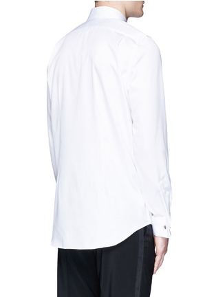Back View - Click To Enlarge - Paul Smith - Pleated bib cotton tuxedo shirt